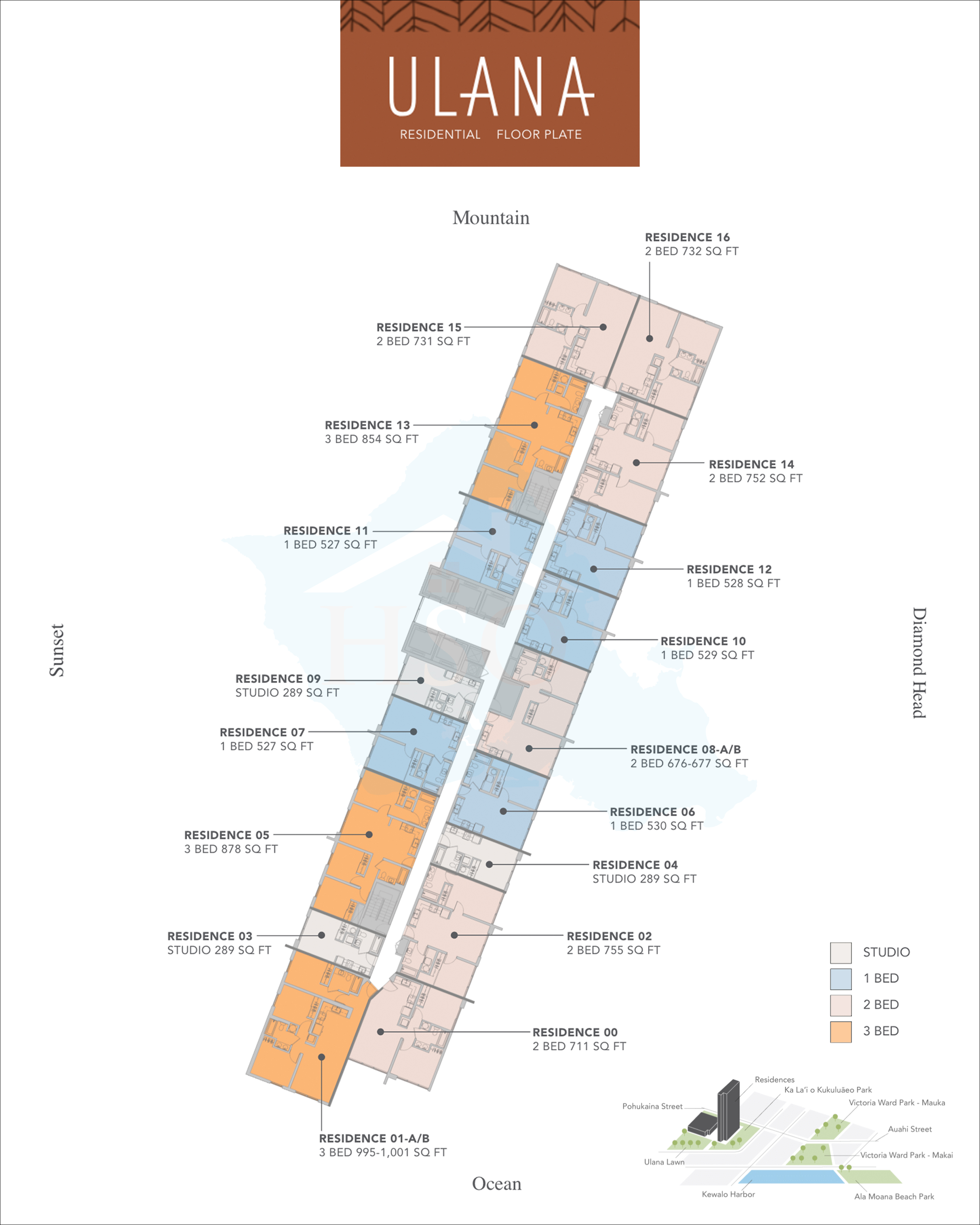 Ulana Ward Village Floor Plan