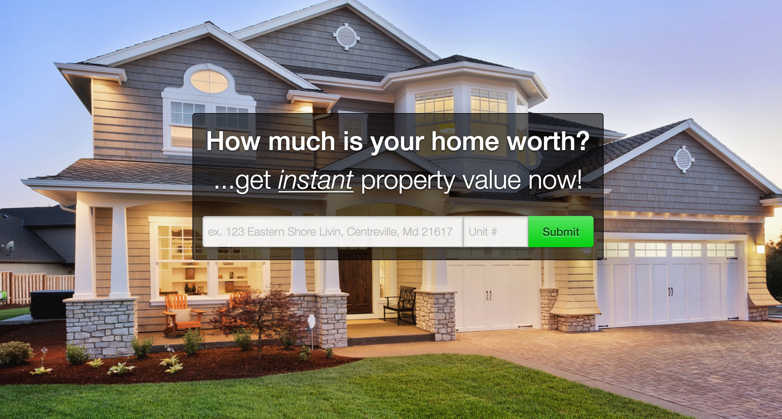 Home values for people wanting to sell their home.