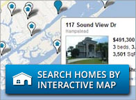 Search homes by interactive map.