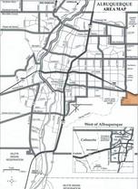 Four Hills Village Area Map