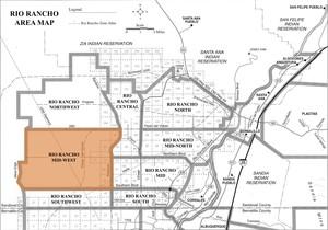 Rio Rancho Mid-West Area Map
