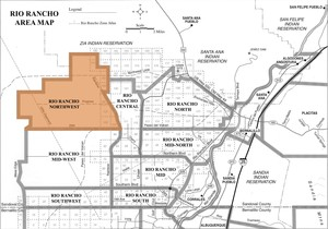 Rio Rancho Northwest Area Map