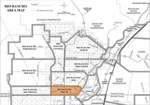 Rio Rancho South Area Map