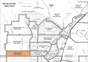 Rio Rancho Southwest Area Map