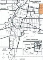 Sandia Heights Area Map