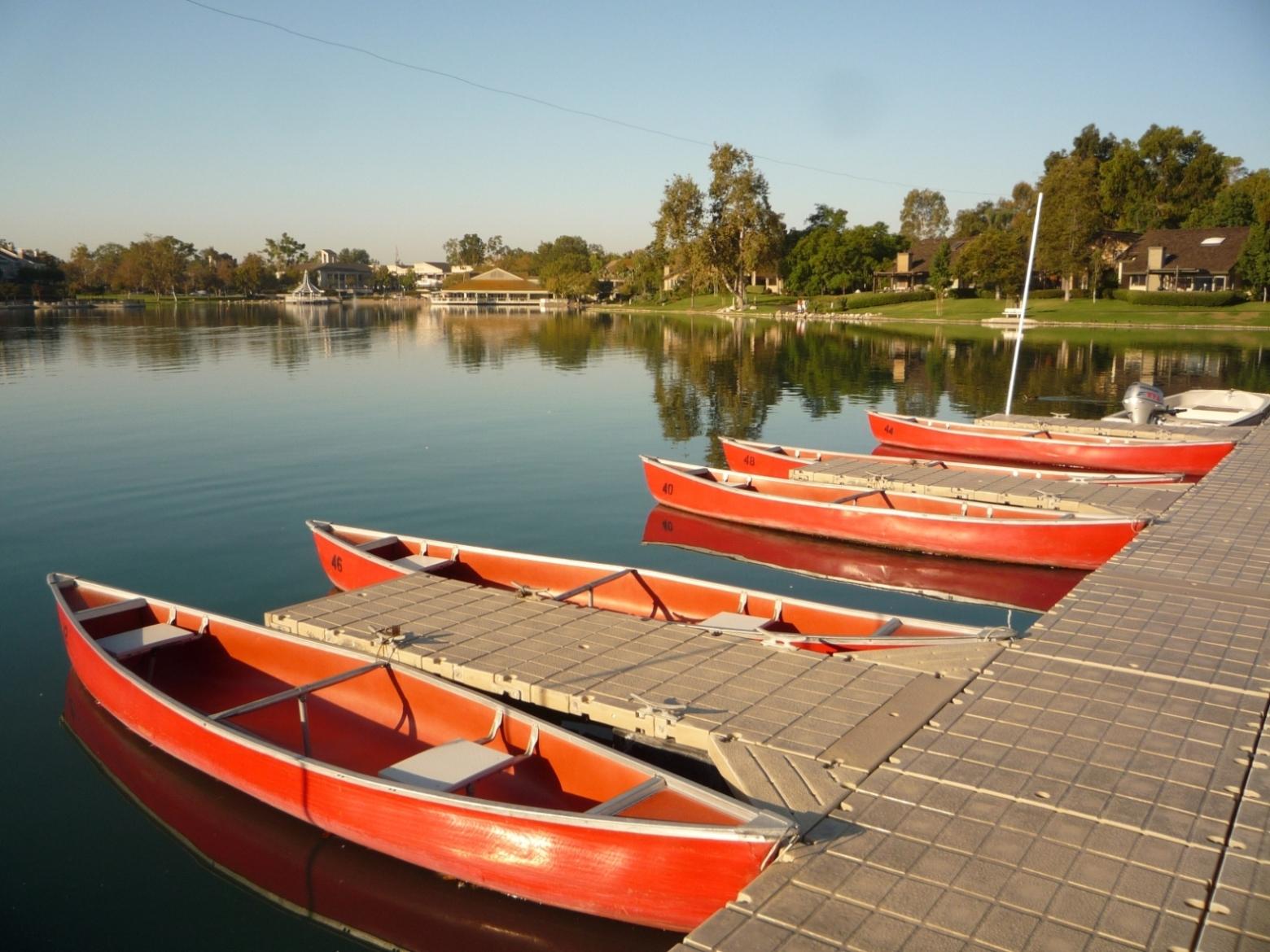 Boats at Woodbridge North Lake