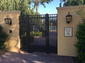 Entrance to Floral Park