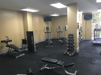 Fully-furnished gym available to residents