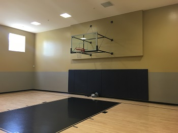 Half-Court basketball courts in the apartment