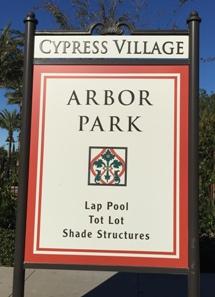 Arbor Park opposite Caserta in Cypress Village