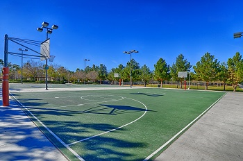 Basketball courts at the community park