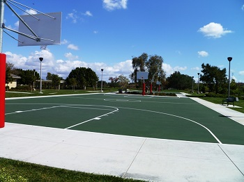 Basketball courts in Columbus Grove