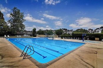 Blue Lake Swim Club is just a walk away