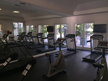 Community gym available for residents