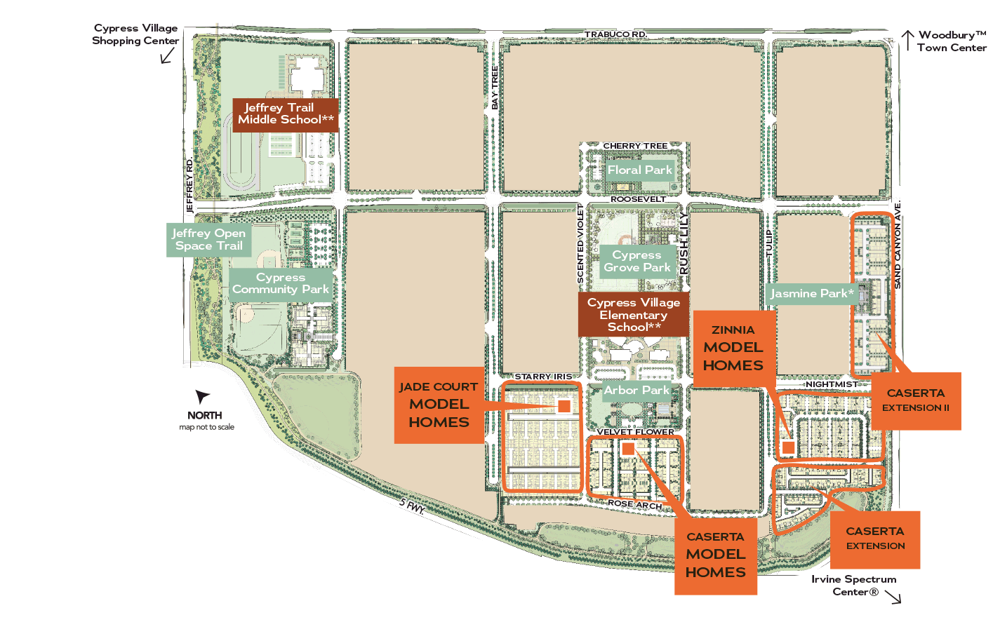 Cypress Village Site Map