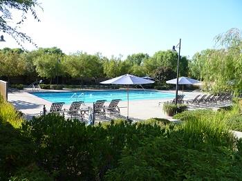 Enjoy the Woodbury community pool and spa