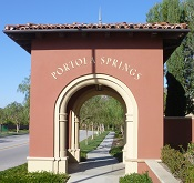 Entrance to Portola Springs