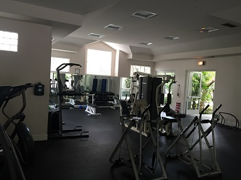 Fully-furnished gym available for residents