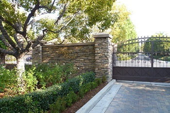 Gated entrance of Arbor Crest