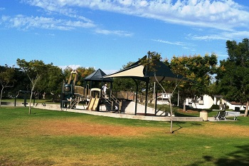 Kids can play at one of the tot lots in El Camino Real