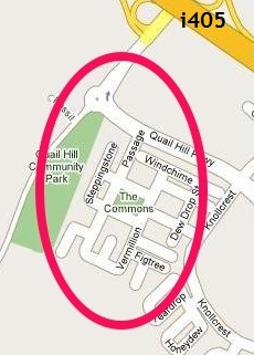 Quail Hill map showing location of Casalon homes