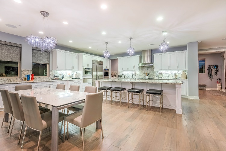 The kitchen/family room in one of Debbie Sagorin's listings