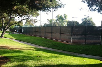 Tennis courts at the Deerfield Community Park
