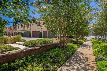 The beautiful tree-lined Four Quartets neighborhood