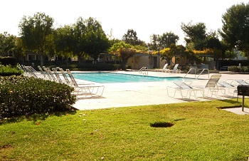 The Woodbridge Association adult-only pool and the family pool are both very close