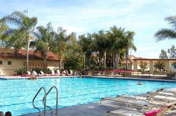 There are two community pools in the Ashford Place area