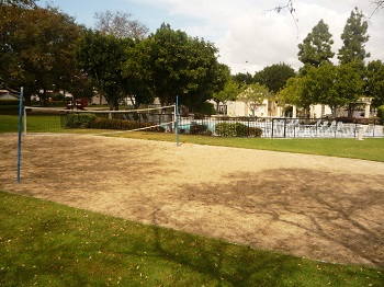 Volleyball court in the park