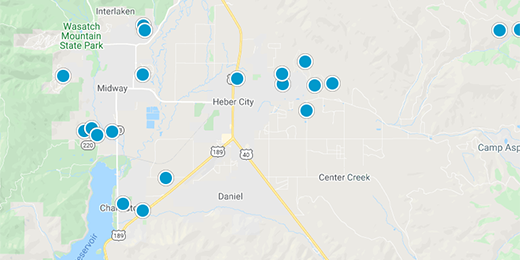 Heber Valley Real Estate Map Search