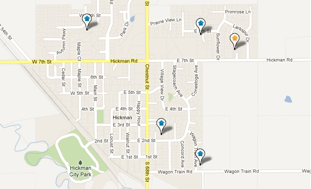 Hickman Real Estate Map Search