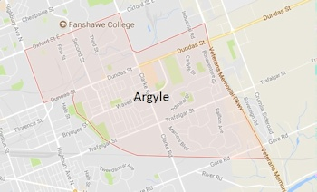 Argyle London Ontario Area Map