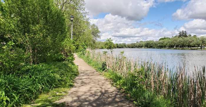 The Avon River in Stratford, Ontario