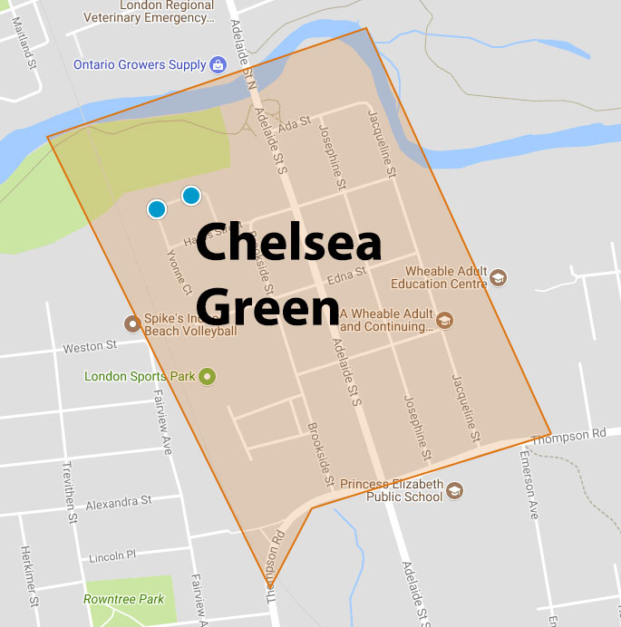 Chelsea Green Area Map
