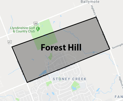 Forest Hill London Ontario Area Map