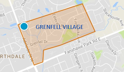 Grenfell Village District Map