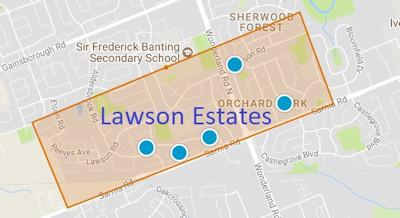 Lawson Estate Area Map