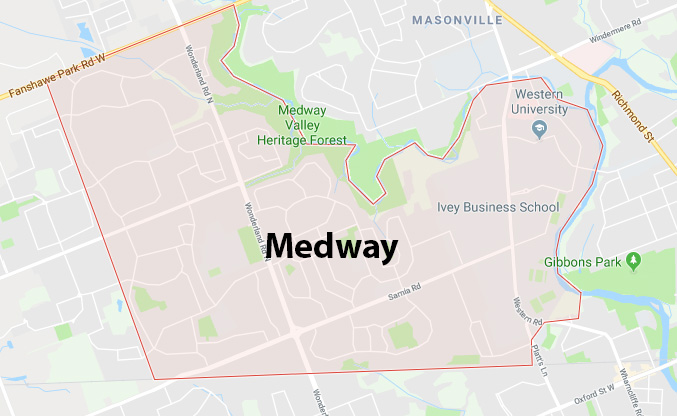 Medway London Ontario Area Map