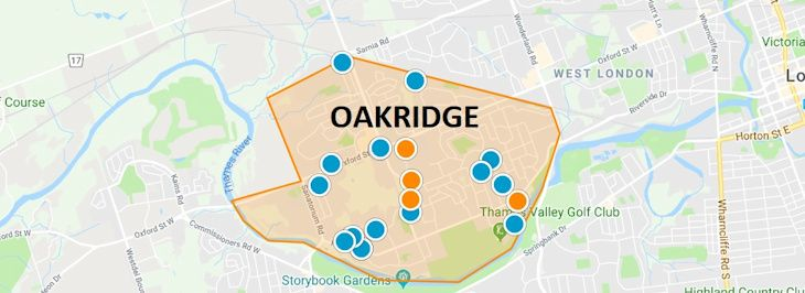 Oakridge London Ontario Map