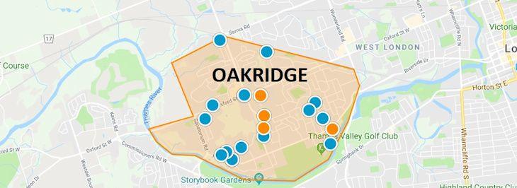 Oakridge London Ontario Map