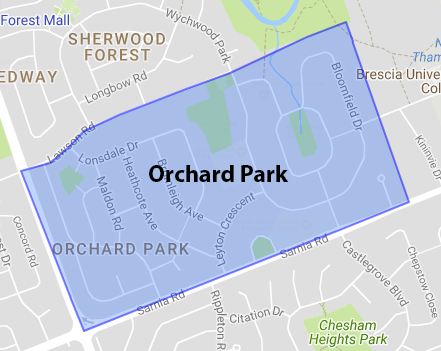 Orchard Park Area Map