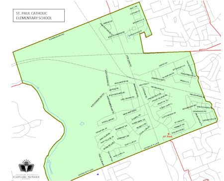 St. Paul Catholic Elementary School Boundary Map