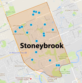 Stoneybrook London Ontario Area Map