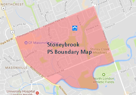Stoneybrook Public School London Ontario Boundary Map