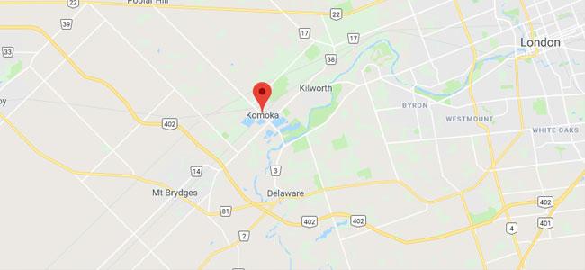 Komoka Ontario Map