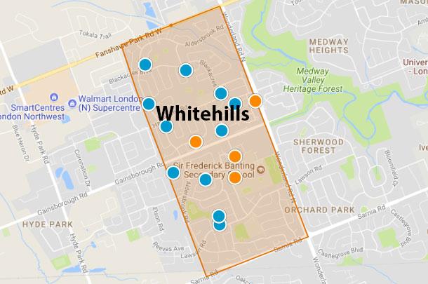 Whitehills London Ontario Area Map