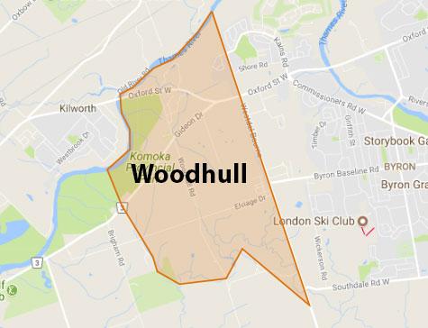 Woodhull London Ontario Area Map