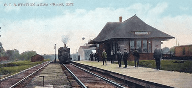 Grand Trunk Railway Ailsa Craig, Ontario